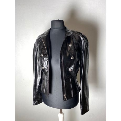 Кожаная куртка Chanel черная