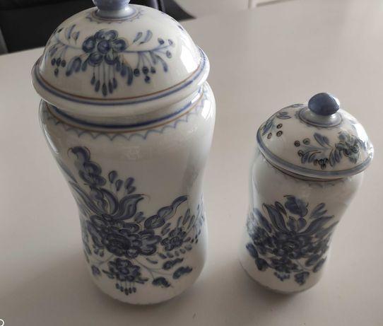 Dois Potes Pintados à mão, louça Viana do Castelo