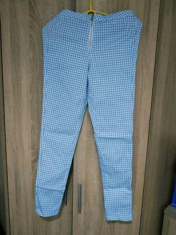 Spodnie niebieskie kratka S sinsay błękitne