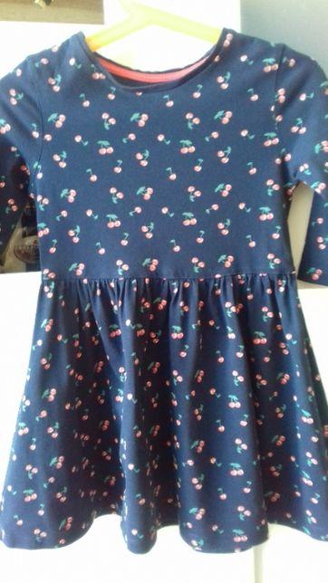 Bawełniana sukienka w wisienki roz. 3-4 lata