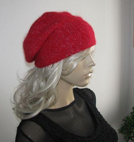 czapka angorkowa M