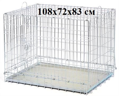 металлический 108х72х83 см вольер клетка для собак крупных пород волк