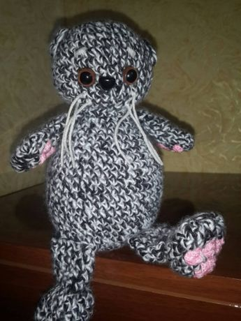 Вязаные игрушки. 150 руб .Кот Басик. Котик.