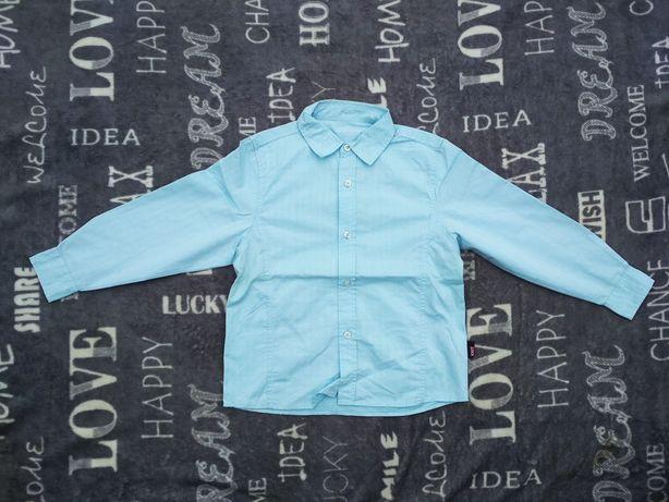 Nowa błękitna EXIT 116 122 chłopięca koszula elegancka wyjściowa 5 6