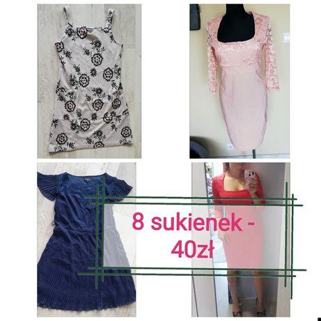 Mega zestaw paka sukienki na wesele sukienka m l XL okazja