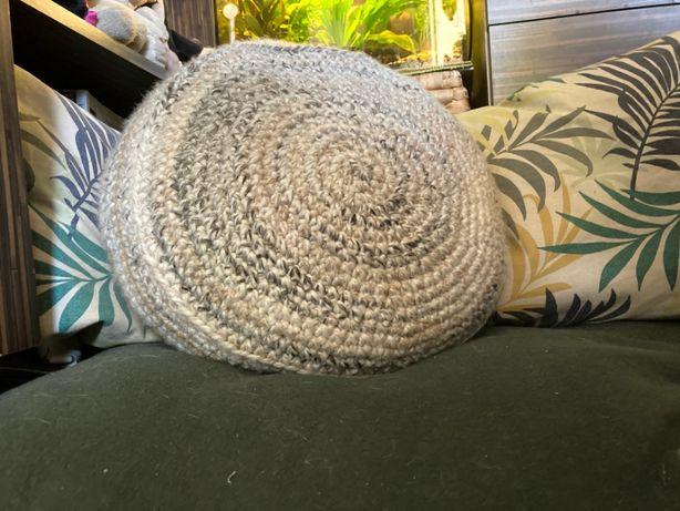 Pleciona pufa/poduszka/zafu do medytacji lub siedzenia z łuskami gryki