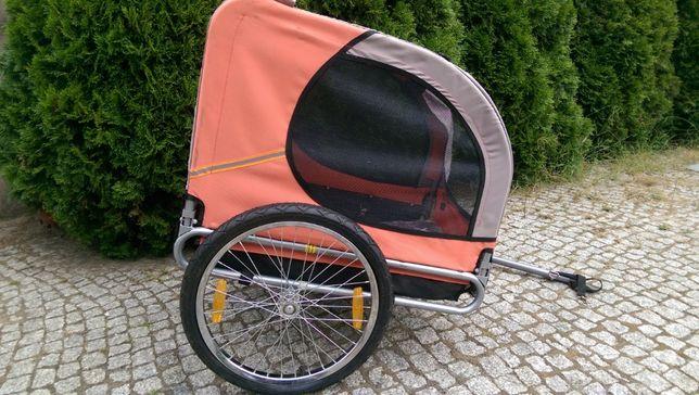 Riksza składana do roweru do przewozu zwierząt