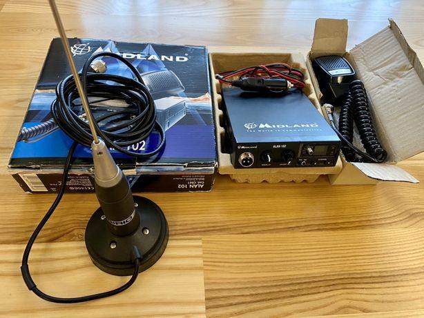 Midland CB radio alan 102 plus antena Sirio