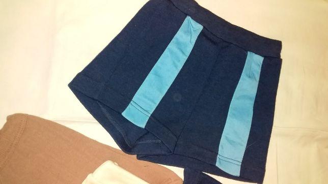 Новые шорты р.26 шерсть 40% белые синие детские