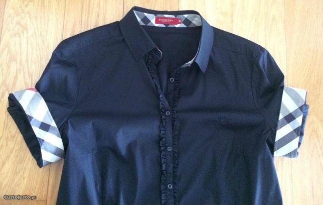 Camisa preta Burberry (original, tam 46)