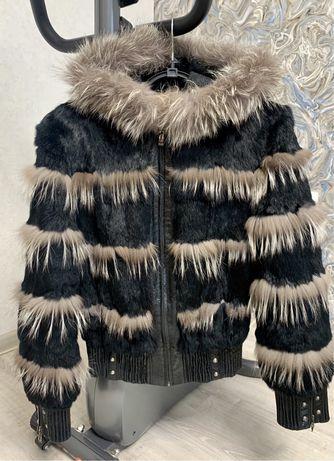 Полушубок куртка натуральный мех женский