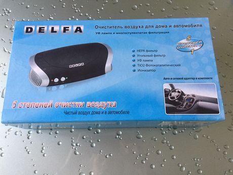 Очиститель воздуха для дома и автомобиля DELFA DC 8510 BK