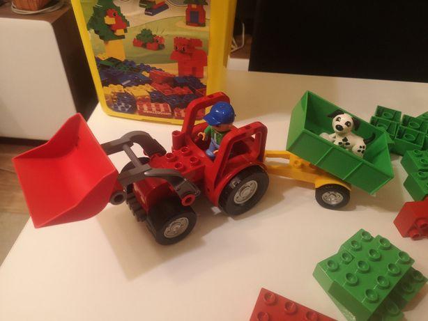 2 komplety Lego Duplo 5647 traktor 4085 wiaderko TYCHY
