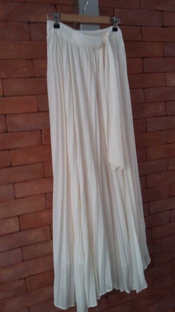 Modna plisowana spódnica maxi r. S