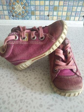 Ботинки ECCO, 22 на девочку, кожаные