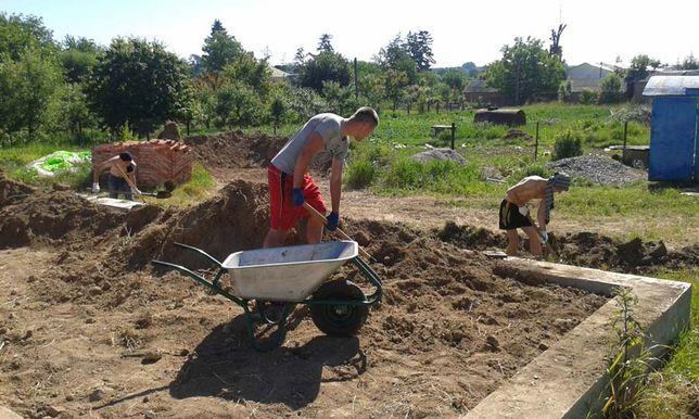 услуги разнорабочих демонтажные работы земляные работы(копка траншеи