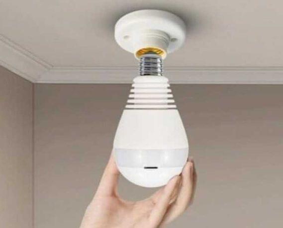Видеокамера wi fi,камера видеонаблюдения панорамная, камера-лампочка