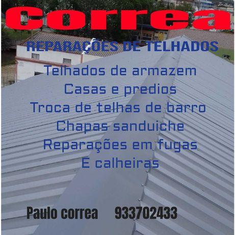 Correa reparações de telhados