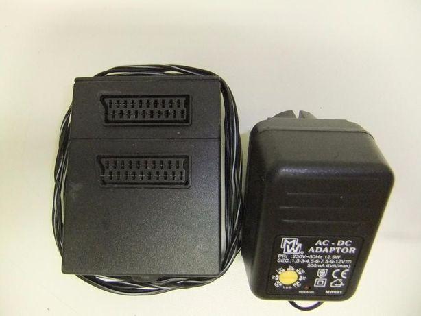 Amplificador de sinal com ficha SCART c/ Power Supply