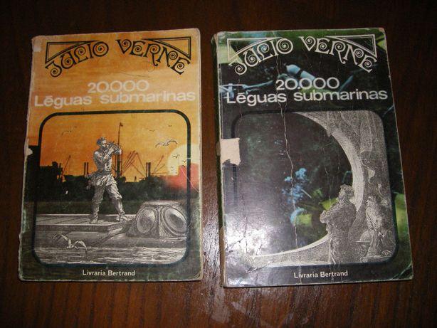 Livros 20000 léguas submarinas, de Júlio Verne, Ed. Livraria Bertrand