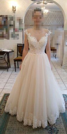 Suknia slubna brzoskwiniowa