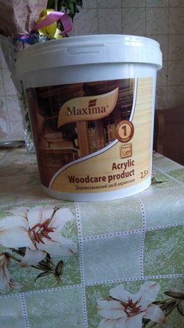 Стройматериалы Марилка для дерева, водостойкая, цвет тиковое дерево.