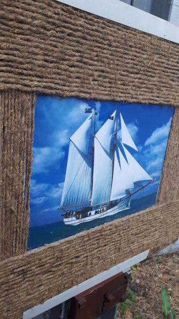Картина-панно ручной работы на морскую тематику Размеры на фото