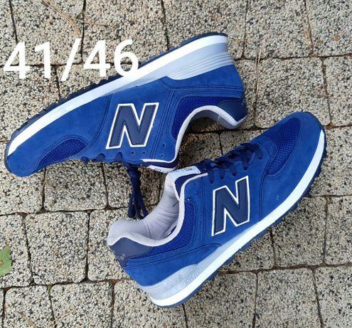 New Balance 574. Rozmiar 45. Kolor niebieskie. Super cena