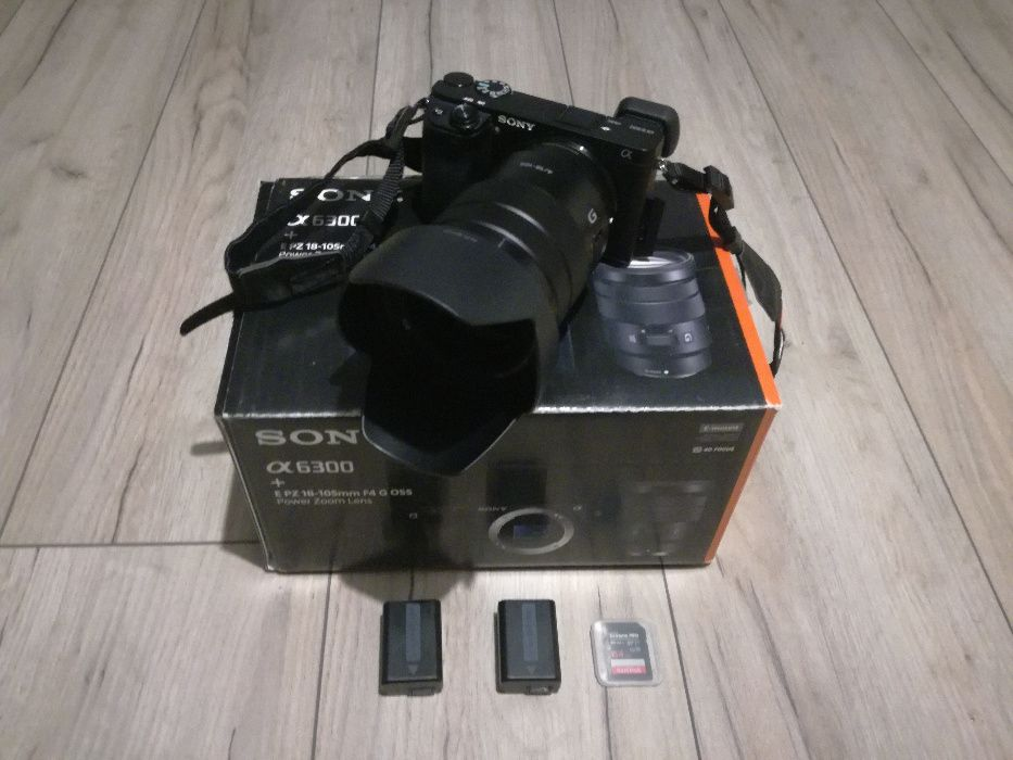 Aparat Sony a6300 + obiektyw Sony E PZ 18-105 f4 Gostyń - image 1