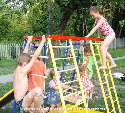 Горка, комплекс спортивный детский, качели, игровая площадка, мат