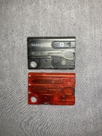 Ультракомпактная кредитная карта-мультитул Swisscard 13в1 в кошелек
