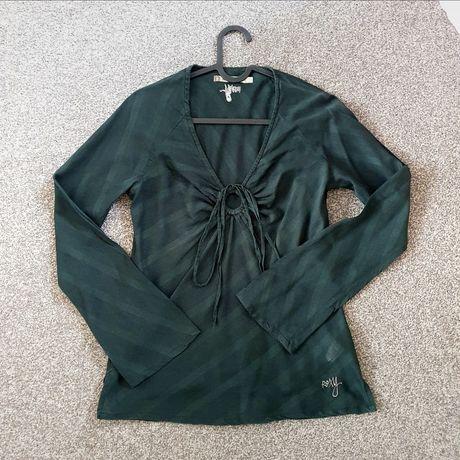 Taliowana bluzka koszulowa Roxy 36 s butelkowa zieleń