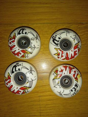 Rodas com rolamentos de skate