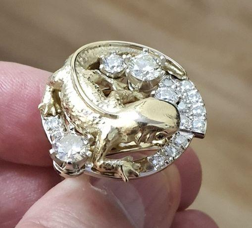 """Золотое кольцо """"НЕПТУН"""" с бриллиантами 3,51 карат"""