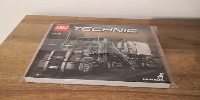Lego technic 42078 Mack Anthem fabrycznie nowa instrukcja składania