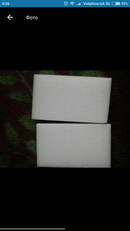 Губка меламінова біла.