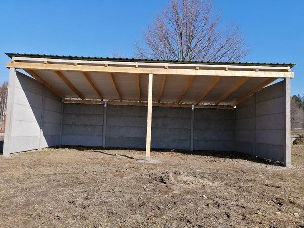 Ogrodzenia Betonowe Garaze z plyt betonowych