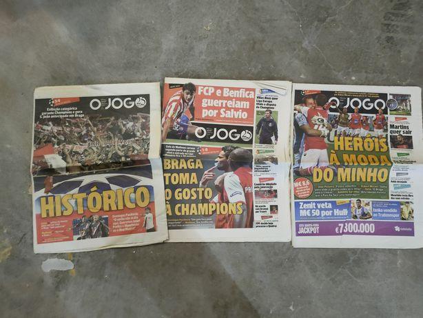 Jornais SCBraga Histórico