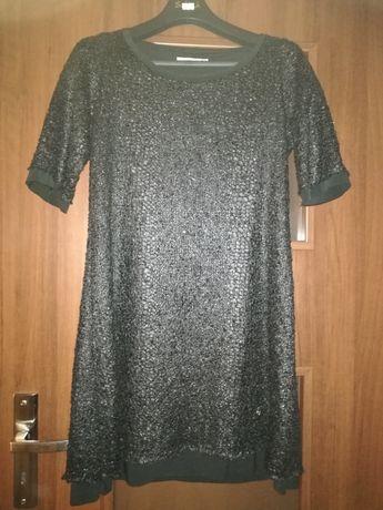 Sukienka czarna na krótki rękaw M