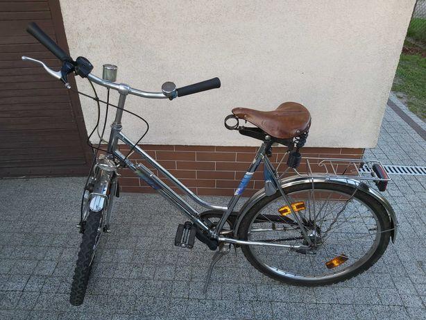 Rower Classic Nirosta rama chromowo niklowa
