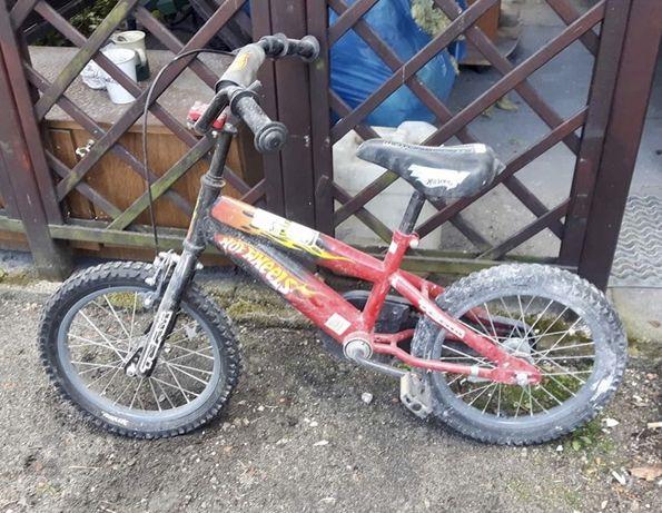 Rowerek dziecięcy Hot Wheels Motorsports rower czerwony