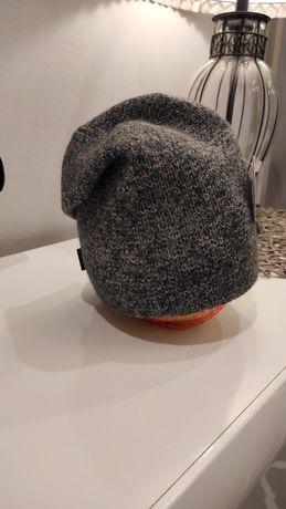 Wyprzedaż !!! Nowa szara zimowa czapka Polski producent