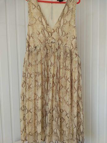 Шифоновое платье  плиссеровка р XS-M