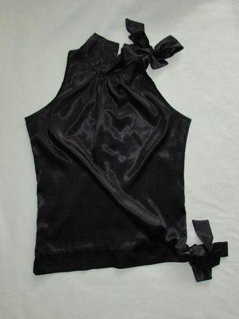 Czarna bluzka satynowa