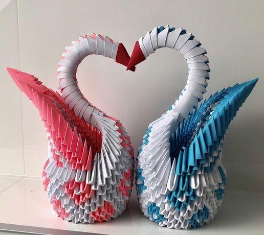 Łabędzie origami modułowe - idalne na ślub