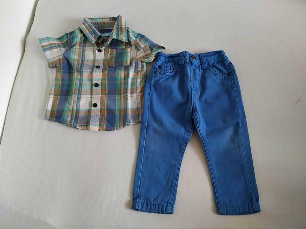 2pak spodnie, spodenki, koszula Rebel rozmiar 80/86