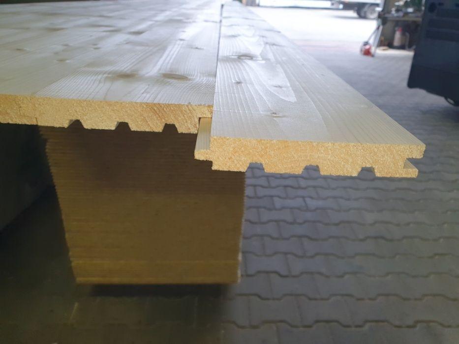 Deska podłogowa świerk syberyjski 19x121 A/B dł.4,00 m 5m Świerzów - image 1