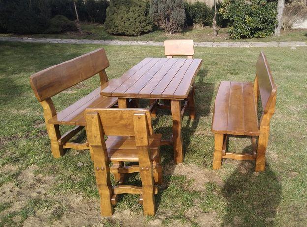 Ekskluzywne meble ogrodowe z olchy Komplet ogrodowy