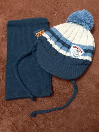 Новая шапочка + шарфик на мальчика