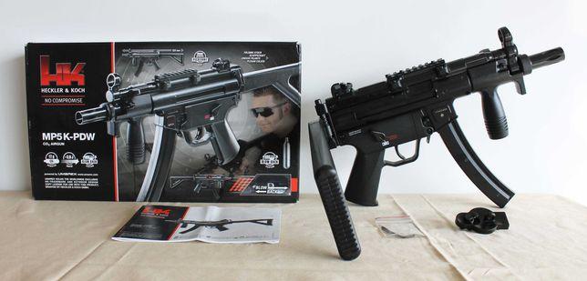 Pistola-metralhadora HK MP5K PDW pressão de ar Blowback de 4.5mm a CO2